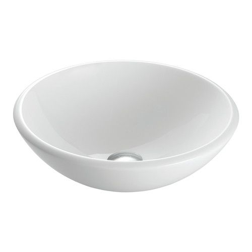 White Phoenix Stone Circular Vessel Bathroom Sink Bathroom remodel