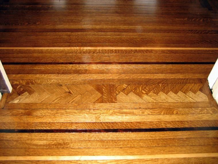 Best Use An Inlay To Transition Between Rooms Hardwood Floors 400 x 300