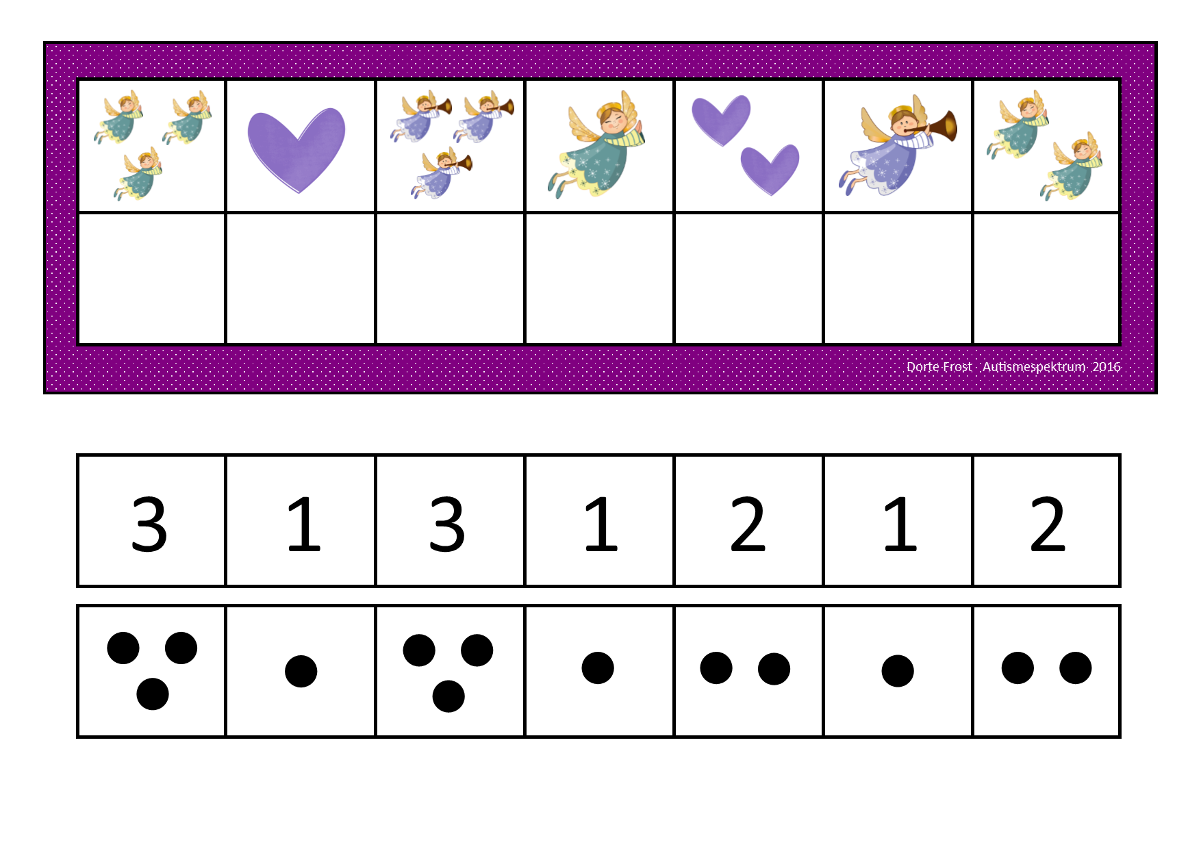 Counting Game Use Dots Or Numbers Depending On What Your