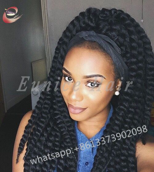 Fake Hair Jumbo Braiding Curly Crochet Synthetic Hair Extensions