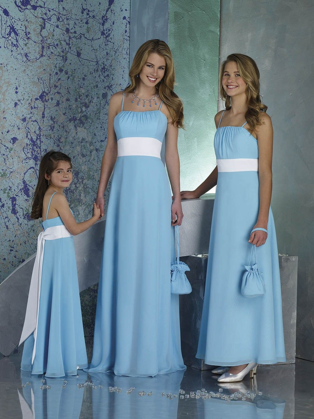 Sky Blue Bridesmaid Dresses, would have the ribbon light green ...