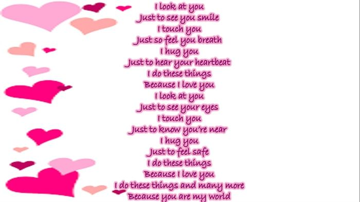 Because I love you by Amber Dawn   Poem
