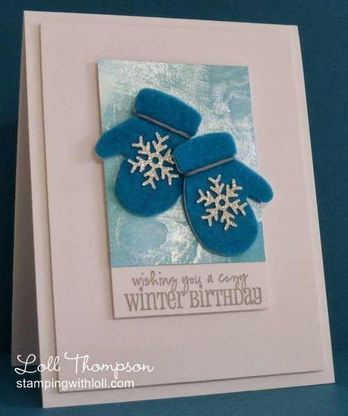 Stamping with Loll: Warm Mittens