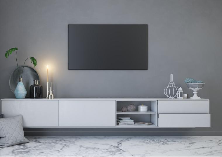 Mobile Tv Arredamento.Saloni Moderni E Un Idea Di Arredamento Con Un Mobile Di