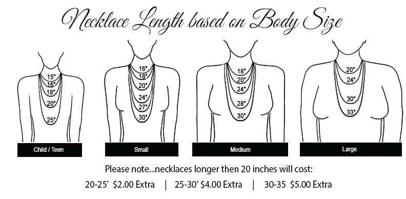 Sizing Necklace Mm Chart Birth Stones Chart Custom Stamped Jewelry Necklace Chart