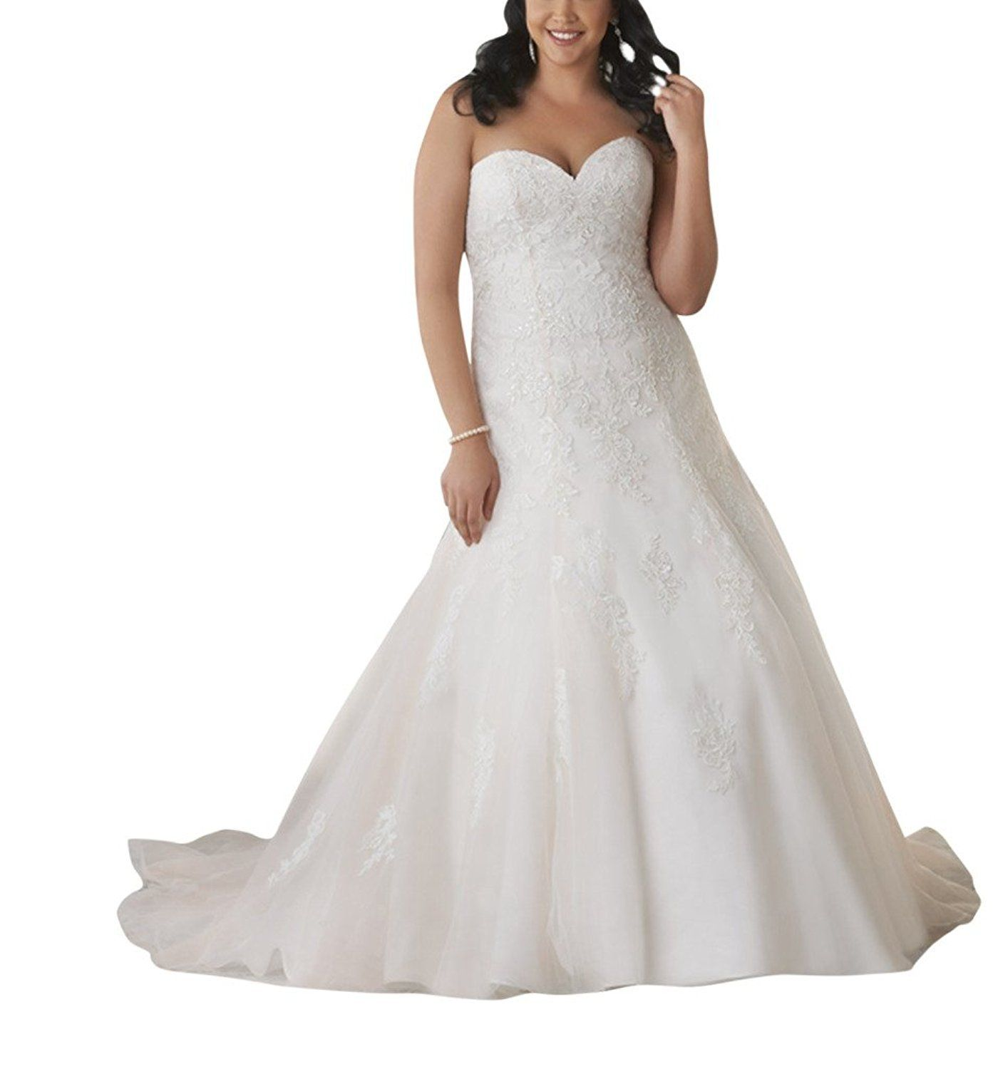 Mella Womenus Bridal Gowns Sweetheart A Line Wedding Dresses for
