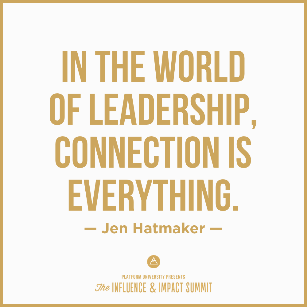 """Quotes On Leadership In The World Of Leadership Connection Is Everything."""" Jen"""