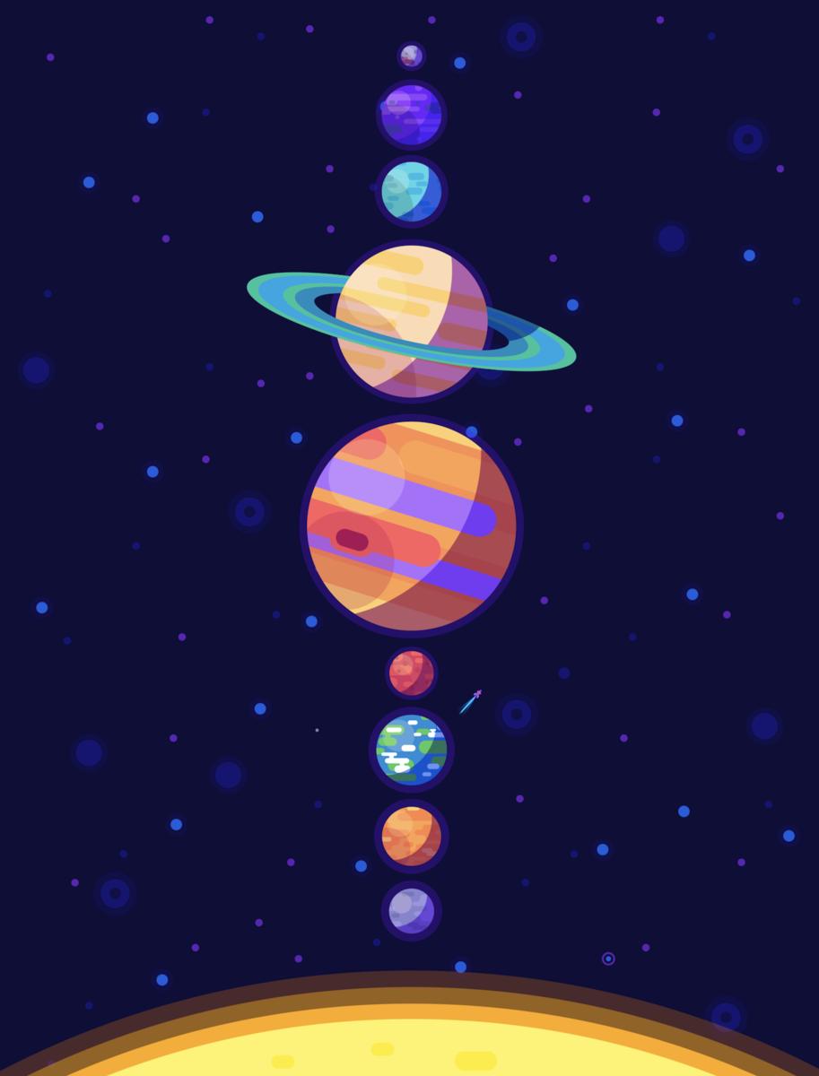 Full Color Digital Print Poster Featuring A New Illustration From Kurzgesagt In A Nutshell Prod Solar System Poster Solar System Wallpaper Solar System Art