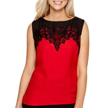 70659cdd8 Worthington® Sleeveless Lace Top found at  JCPenney