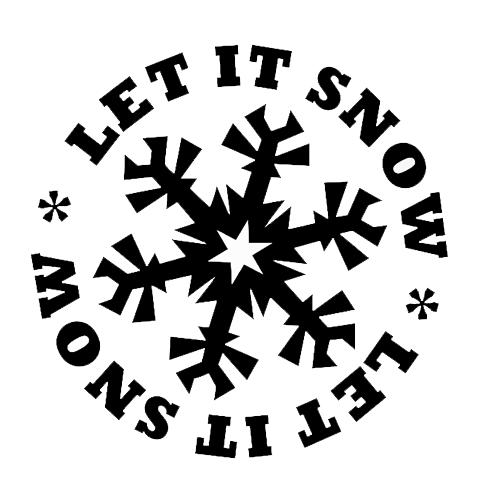 Let It Snow Die Cut Vinyl Decal Pv464 Cricut Pinterest Snow