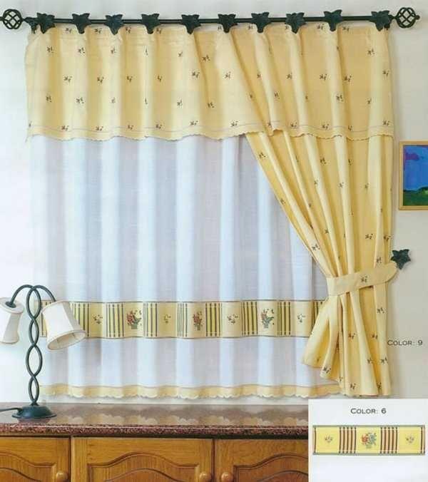Lindo colores de cortinas para tu cocina estilo rústico | cortinas y ...