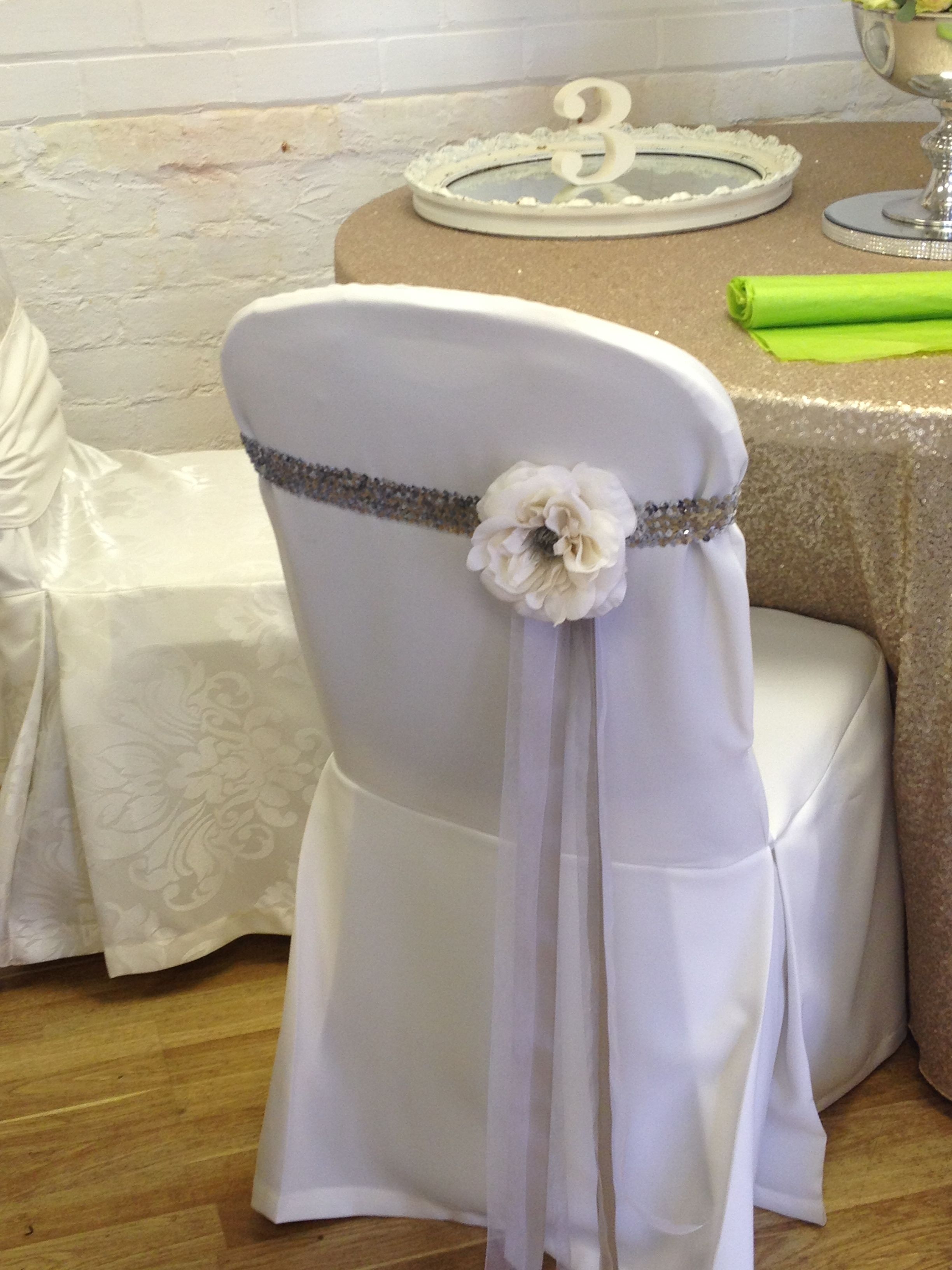 Unique chair covers and simple. I like Weddings in 2019