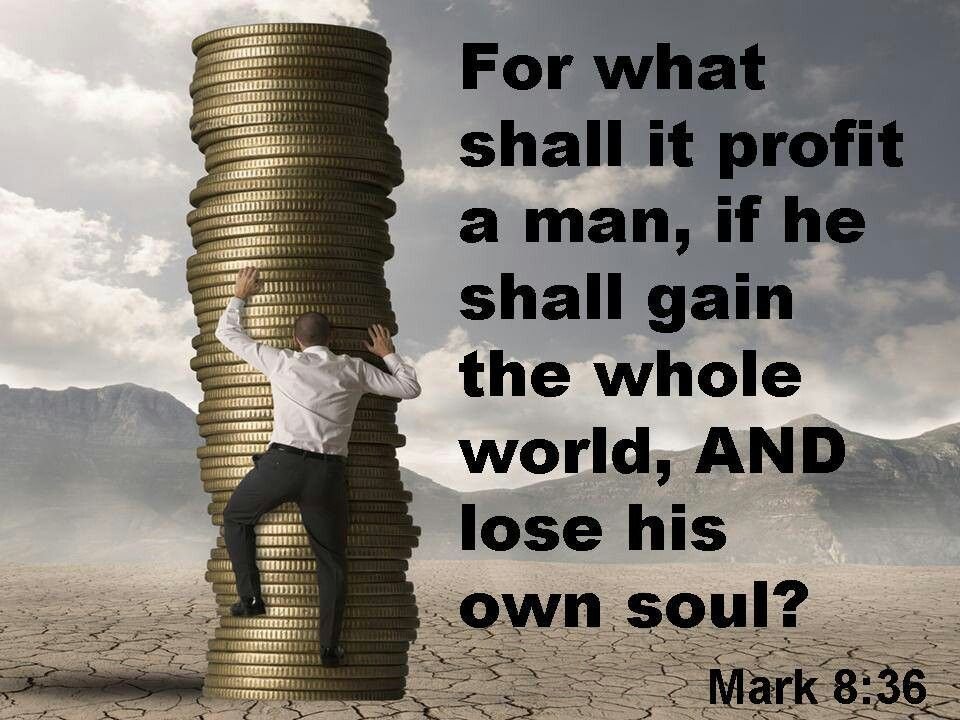 Image result for for what shall it profit a man