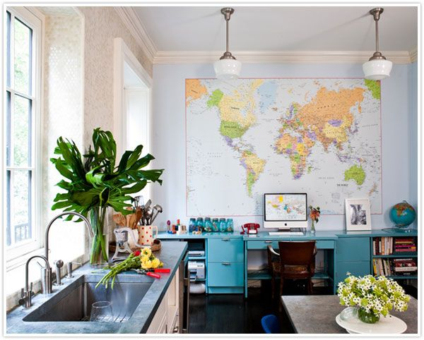 Do You Dare :: Worldly Walls | Schoolhouse light, Walls and Kitchens