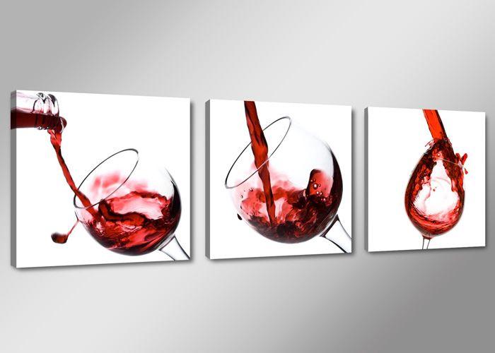 Leinwand Bild fert gerahmt Wein Küche 150cm XXL 3 4219 in ...