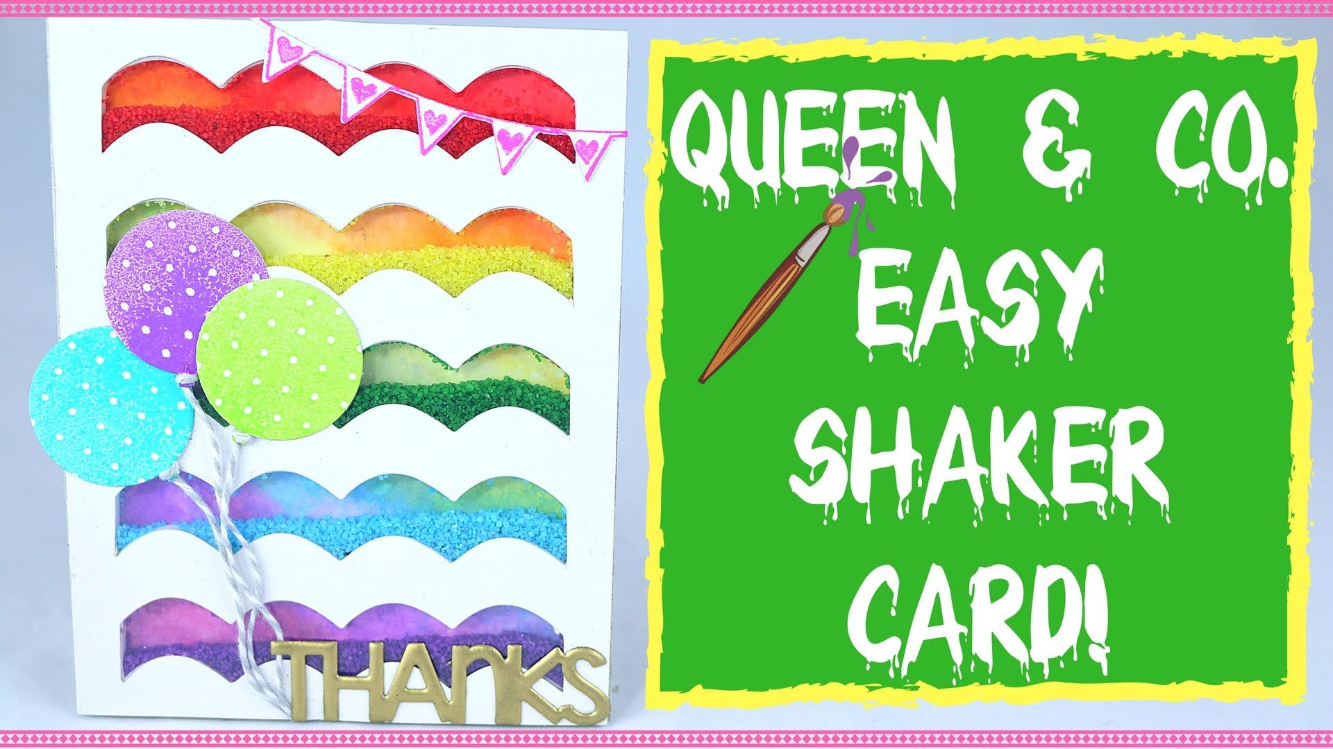 EASY HANDMADE CARDS- Shaker Card Tutorial with Queen & Co. Shaker Card K...