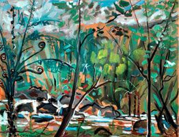 Bord de creek, 1964. Gouache, 50 x 65 cm