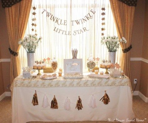 Twinkle Twinkle Little Star Baby Shower Neat House Sweet Home Twinkle Twinkle Baby Shower Star Baby Shower Theme Simple Baby Shower