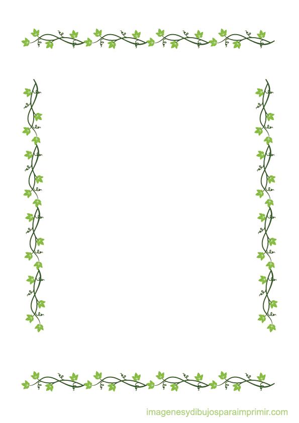 Bordes con hojas para imprimir bordes para guardar for Tipos de arboles decorativos