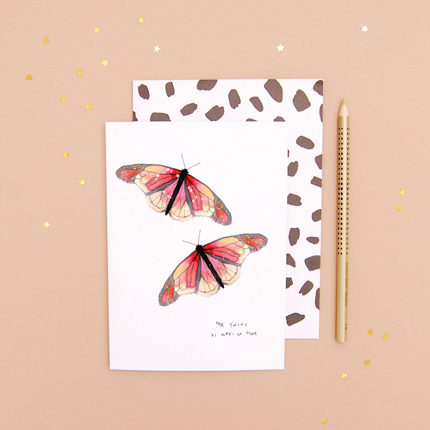 Gemini Birthday Butterfly Zodiac Bullet Journal in 2020