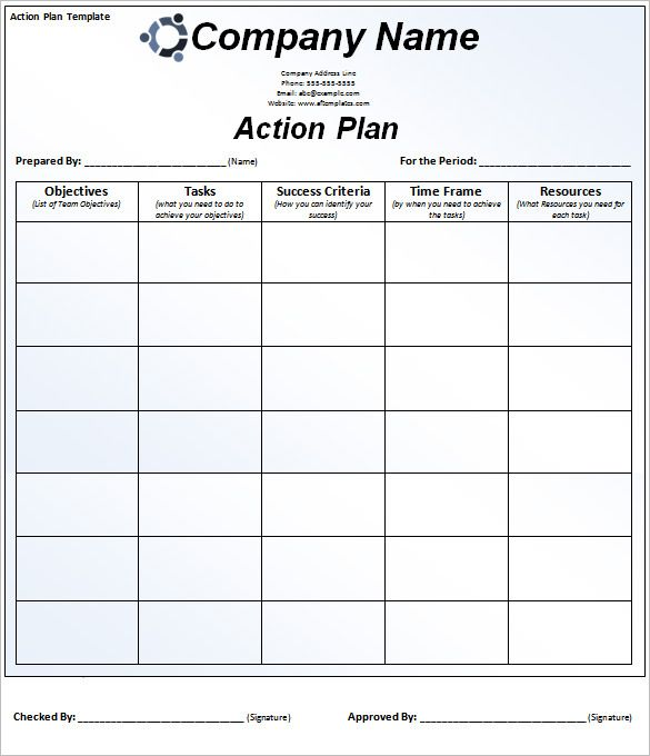 90 Action Plan Templates Word Excel Pdf Apple Pages Simple