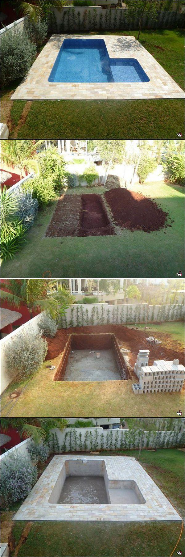 Mini-Pool in ihrem Ferienhaus mit eigenen Händen #poolimgartenideen