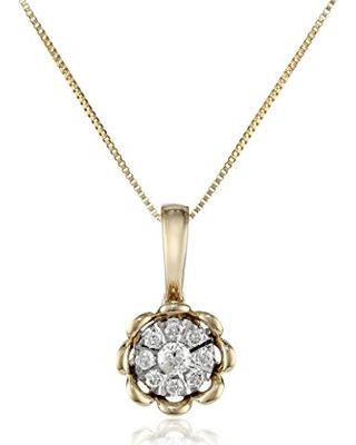 yellow gold dainty flowers diamond necklace - Google Search