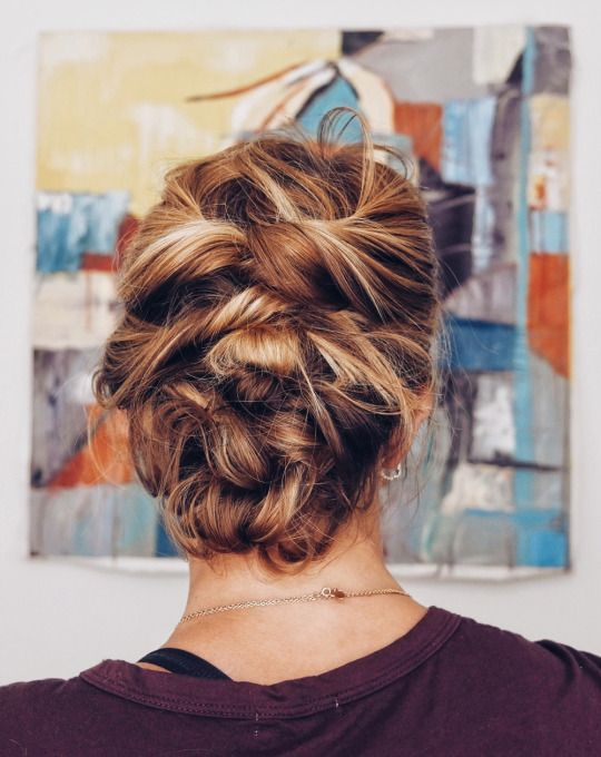 Quick Messy Updo | Lob hairstyle, Lob styling, Bob hairstyles