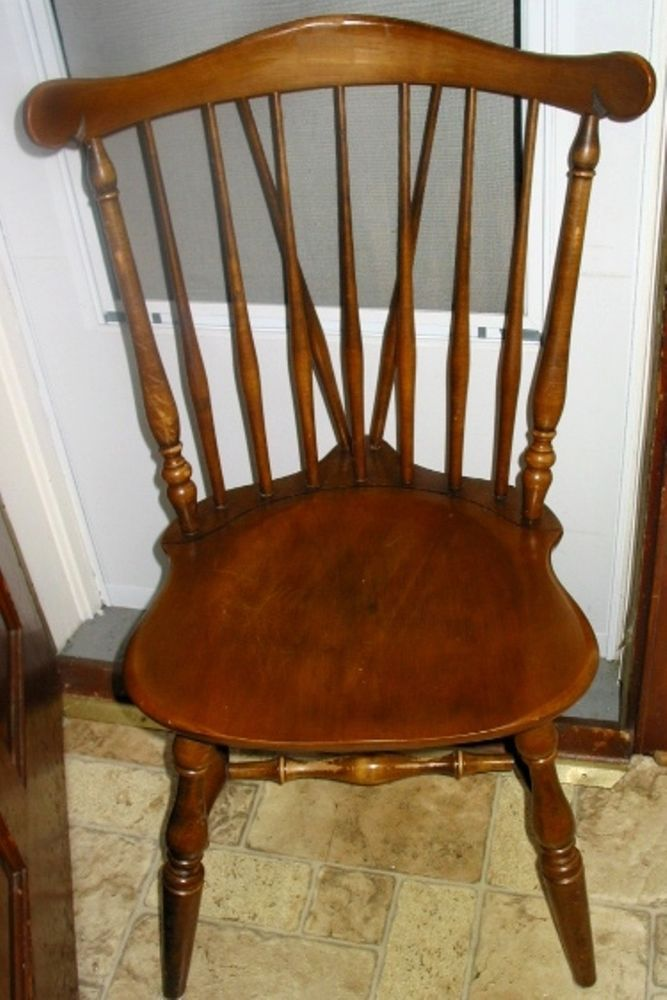 Vintage Kling Colonial Solid Maple Wood Spindle Windsor Style Dining Room Chair Windsor Style Chairs Dining Chair Cushions Chair Style