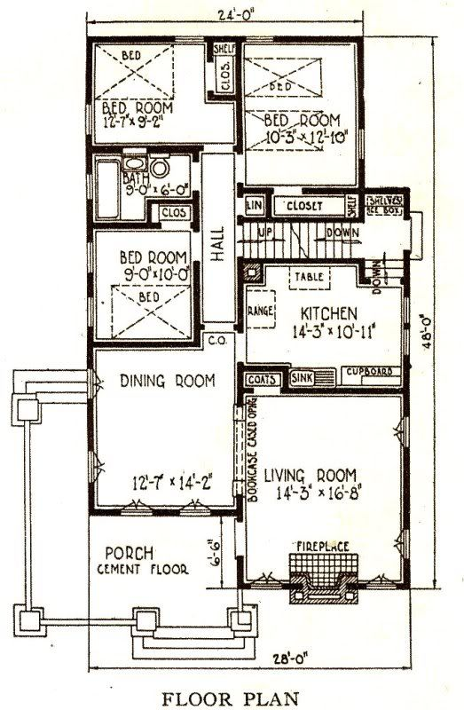 Sears Avalon Floor Plan Homes By Mail Pinterest