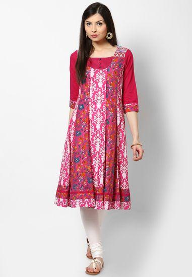 44a151c55f0 Cotton Pink Kurta - Rangmanch By Pantaloons Kurtas   kurtis for women