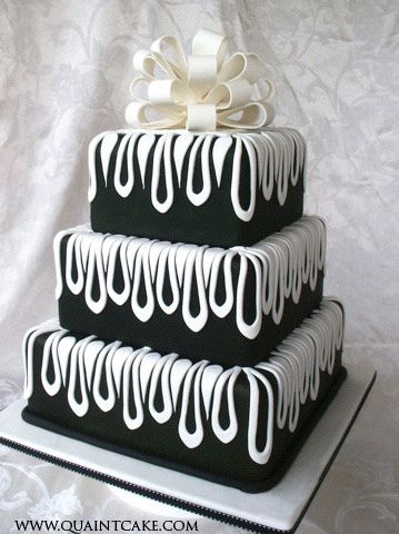 Black white wedding cake white wedding cakes cake and wedding black white wedding cake by quaintcake via flickr junglespirit Gallery