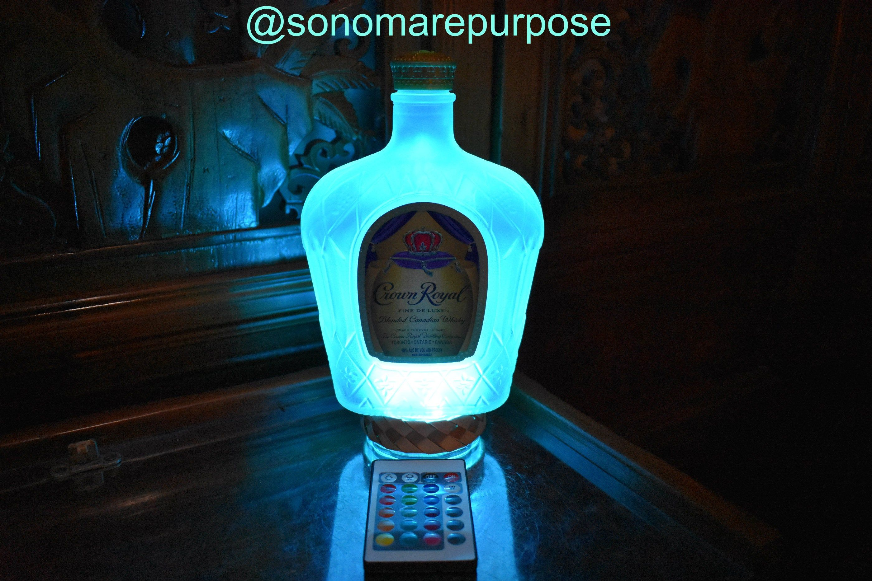 Crown Royal Whisky Frosted Bottle Light
