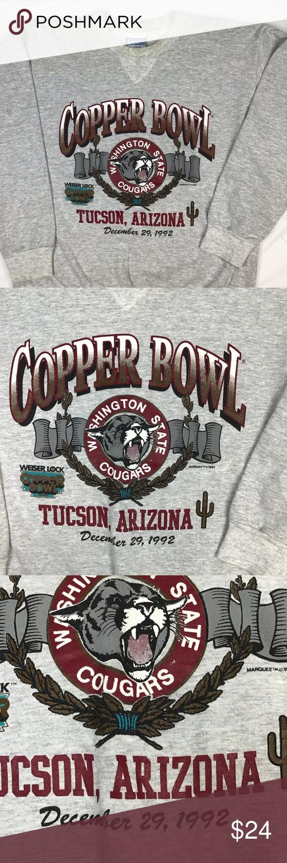 VTG WSU 92 Copper bowl crewneck in 2020 Crew neck