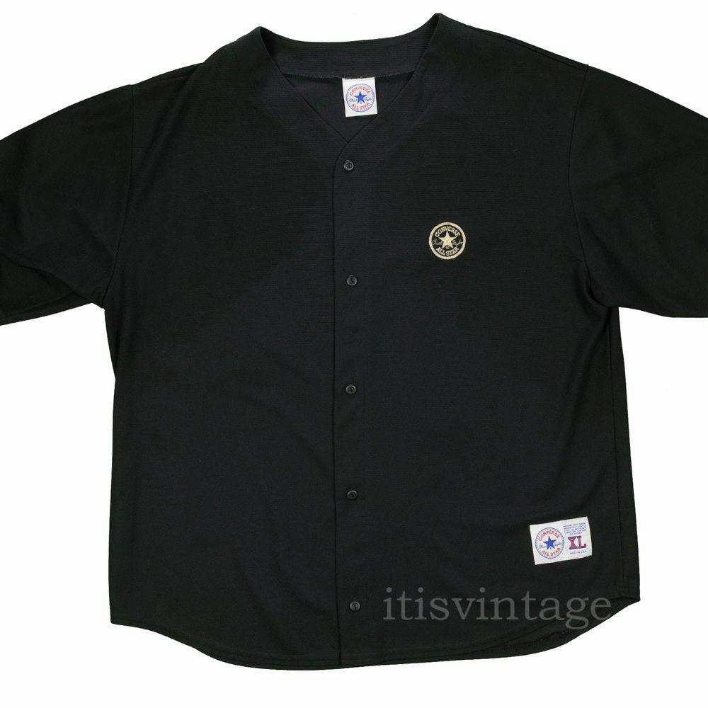 Converse Shirt XL Vintage Chuck Taylor All Star Made USA Black Athleisure Wear  #Converse #athleisure #chucktaylor #allstar #itisvintage #madeinusa