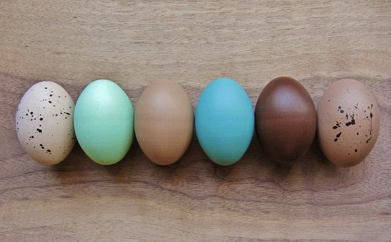 Easter eggs- wooden heritage breed chicken egg- Holiday Decoration -eco friendly- Waldorf Montessorri toy on Etsy, $17.00