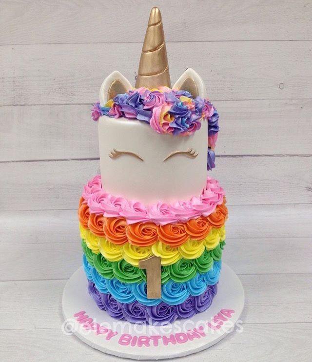 Rainbow unicorn cake Unicorn Stuff Pinterest Rainbow unicorn