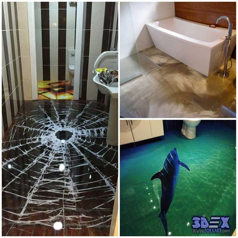 3d Bathroom Floor Murals And Designs, 3d Epoxy Flooring All Secrets On 3D  Epoxy Flooring