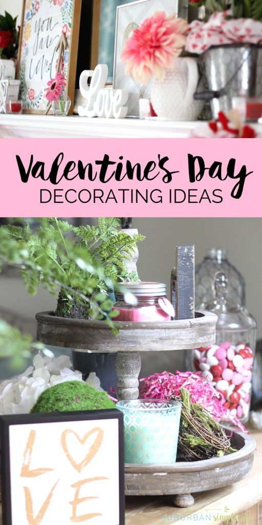 Valentine\'s Day Home Decorating Ideas | Mantels, Holidays and ...