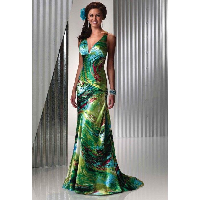 Tropical bridesmaid dresses for weddings evening dresses for Green dresses to wear to a wedding