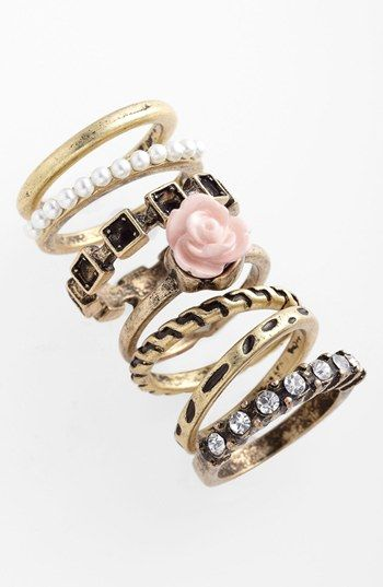 adia kibur rings set of 7 available at nordstrom