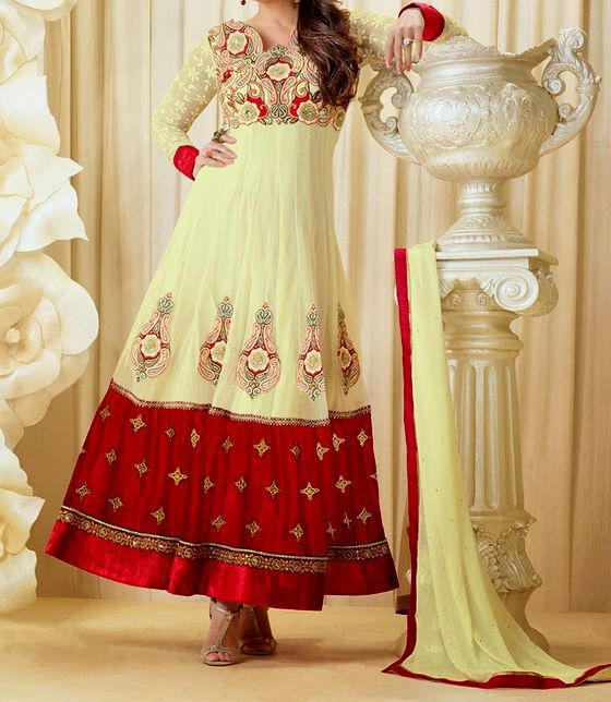 Fashion of Frocks Design 2014-2015 in Pakistan Facebook Collection