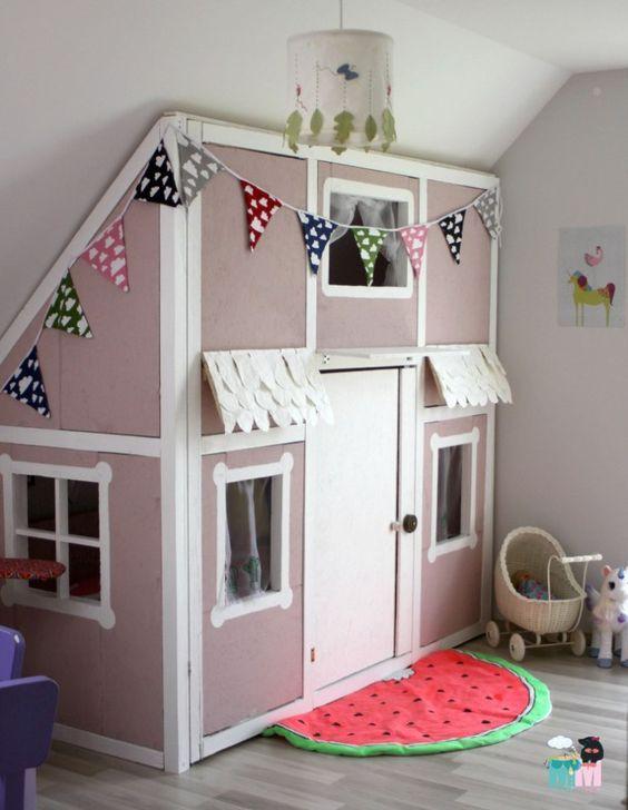 Babyzimmer selber bauen  DIY – Ein Hausbett im Kinderzimmer – #chellisrainbowroom | Pinterest ...