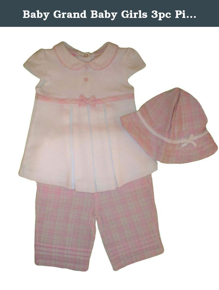 8715965a0 Baby Grand Baby Girls 3pc Pink Plaid Pants Set