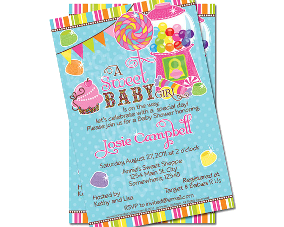 candy theme invitations perfect compliment to our candy store