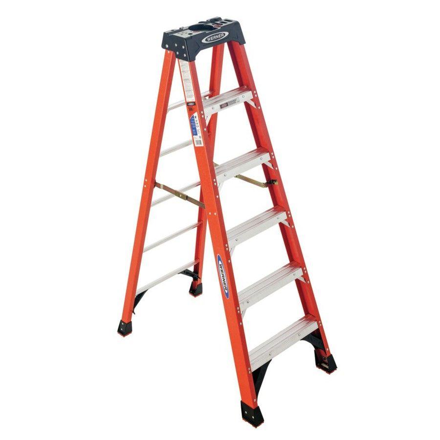 Werner Nxt 6 Ft Fiberglass Type 1a 300 Lbs Capacity Step Ladder Lowes Com Step Ladders Wood Post Best Ladder