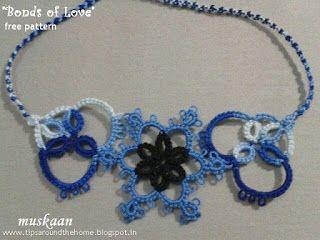 Tatted Rakhi / bracelet / choker / bookmark .... with free pattern ... muskaan's T*I*P*S: Two Rakhi Bracelet Patterns
