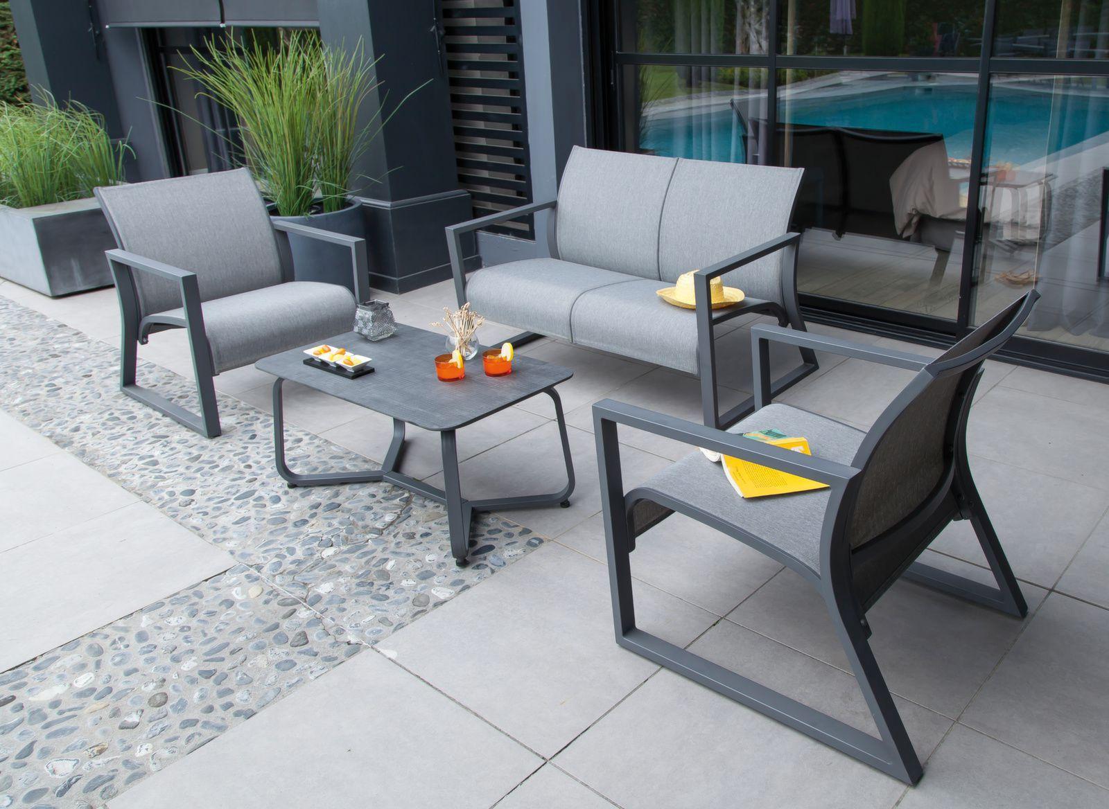 Canapé lounge 2 places Quenza | Mobilier de jardin - détente ...