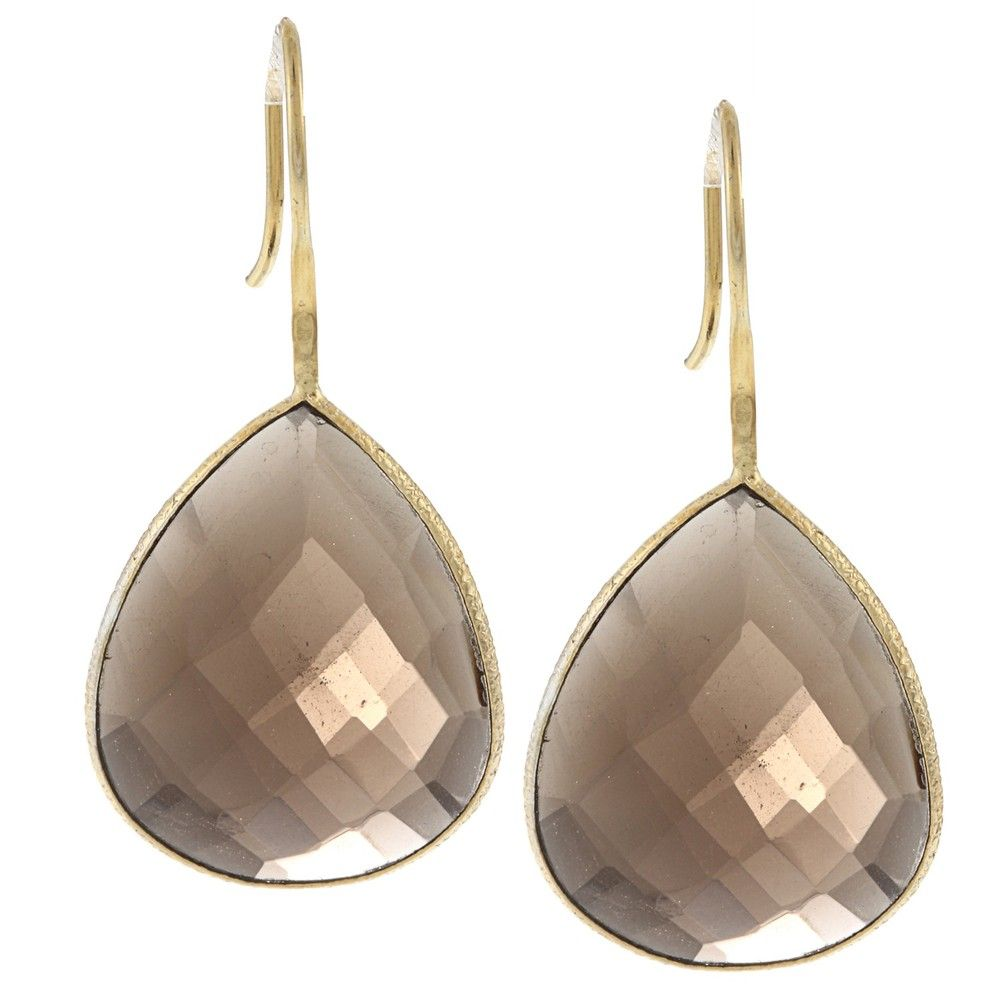 Miadora 22k Yellow Gold Overlay Gemstone Earrings (28ct TGW)   Overstock.com