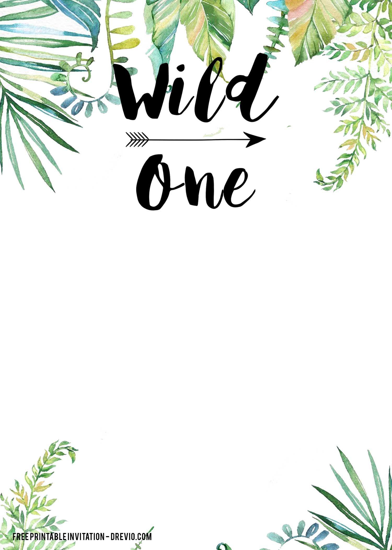 free printable wild one invitation